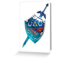 The Master Sword With the Hylian Shield Greeting Card