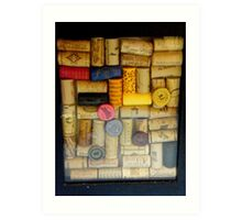 Wine bottle cork collection..... Art Print