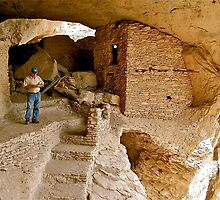 Gila Cliff Dwellings/New Mexico by Nancy Richard