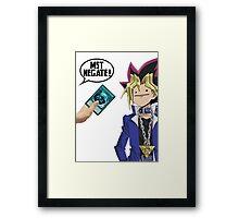 Yu-Gi-Oh! - MST Negate! Framed Print