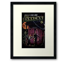 INTO THE UNKNOWN - SCARY RETRO POP ART Framed Print