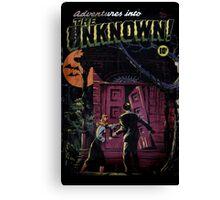 INTO THE UNKNOWN - SCARY RETRO POP ART Canvas Print