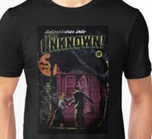 INTO THE UNKNOWN - SCARY RETRO POP ART Unisex T-Shirt