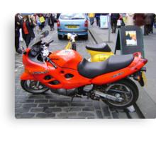 orange motorbike Canvas Print