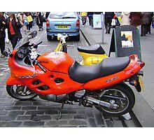 orange motorbike Photographic Print