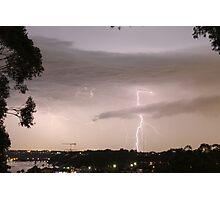 Lightning crashes Photographic Print