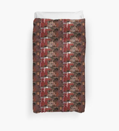 Too weird to live, and too rare to die. Duvet Cover