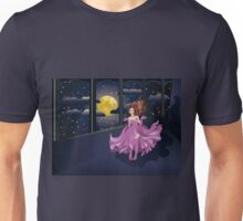 Girl in Purple Dress on Balcony 2 Unisex T-Shirt