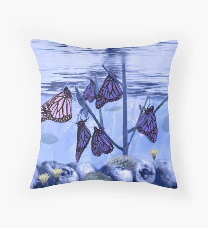 Butterfly Reef Throw Pillow
