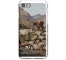 THOMAS SIDNEY COOPER (1803-1902) The Old Clachan of Abergoil in the Rob Roy Country 1883, England iPhone Case/Skin