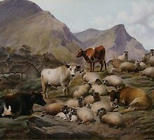 THOMAS SIDNEY COOPER (1803-1902) The Old Clachan of Abergoil in the Rob Roy Country 1883, England by Adam Asar