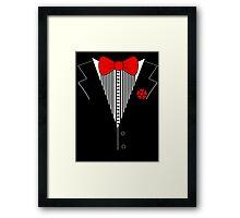 Tuxedo Bow Top  Framed Print