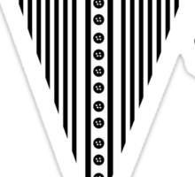 Tuxedo Bow Top  Sticker