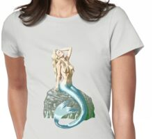 Mermaid on the Rocks Womens Fitted T-Shirt
