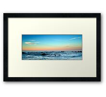 Soft Peach Dusk Framed Print