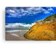 Rock on a beach Canvas Print