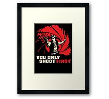 Shoot First Framed Print