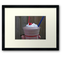 Chocolate Malt with Cherry and Whipped Cream Framed Print