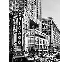 Chicago in Black and White Photographic Print