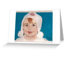 Aimee, aged two Greeting Card