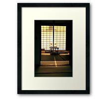 Zen tea temple Framed Print
