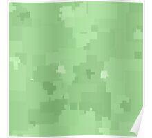 Pistachio Square Pixel Color Accent Poster