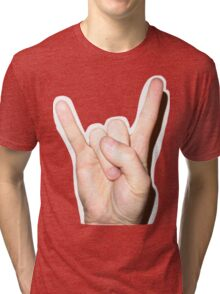 rock on  Tri-blend T-Shirt