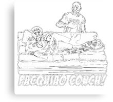 Pacquiao Couch Canvas Print