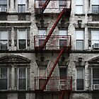 Red Fire Escape, Cast Iron District, New York City by Jane McDougall