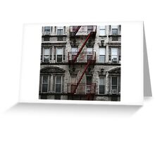 Red Fire Escape, Cast Iron District, New York City Greeting Card