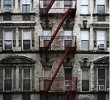 Red Fire Escape, Cast Iron District, New York City Photographic Print