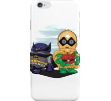 Bat-D2 and Rob-3PO iPhone Case/Skin