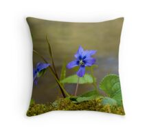 Little Blue Flower Throw Pillow