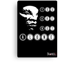 Face of BOE: You are not alone Canvas Print