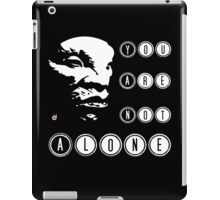 Face of BOE: You are not alone iPad Case/Skin