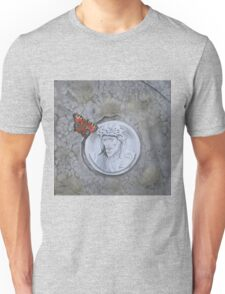 Peacock Butterfly on gravestone Unisex T-Shirt