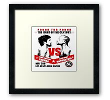 Fight of Century Framed Print