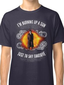 Doctor Who Burning a Sun Classic T-Shirt