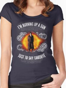 Doctor Who Burning a Sun Women's Fitted Scoop T-Shirt