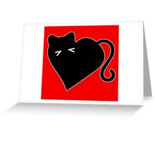 Gato Corazon - Amo los Gatos!! I Heart Cats Greeting Card