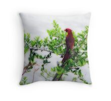 Sitting Pretty Over the Water Throw Pillow