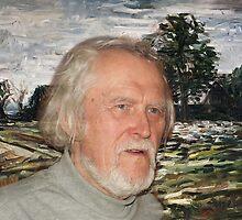 Grand Lithuanian Poet Marcelijus Martinaitis by Antanas