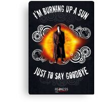 Doctor Who Burning a Sun Canvas Print