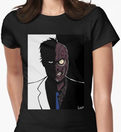 Two Face - Duality Womens Fitted T-Shirt