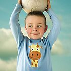 A boy who loves football by Anette Tyler