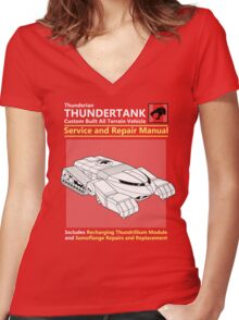 Thundertank Service and Repair Manual Women's Fitted V-Neck T-Shirt