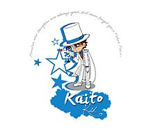 Kaito Kid - Don't forget the Poker Face! Photographic Print