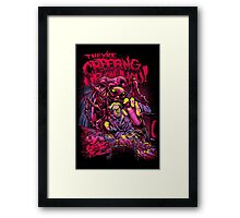 THEY'RE CREEPING UP ON YOU Framed Print