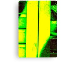 Black, Green and Gold Canvas Print