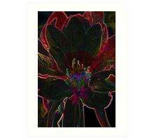 Glowing Flower Art Print